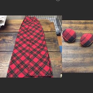🎉 Vintage Liz baker red plaid tartan midi skirt 6